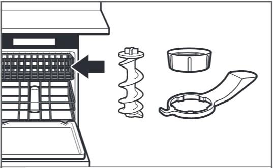 So reinigen Sie den Nudelvorsatz, Schritt5