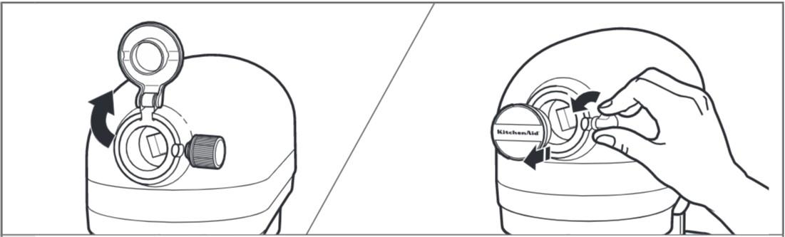 comment fixer le presse-agrumes au robot pâtissier étape2