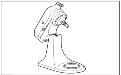 how do you attach the ice cream maker to the tilt head mixer step 2
