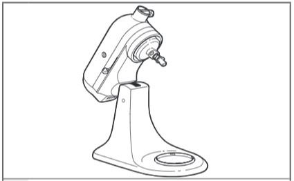 comment fixer la sorbetière au robot pâtissier à tête inclinable étape2