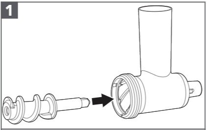 So montieren Sie das Wurstfüllhorn-Erweiterungsteil Schritt 1