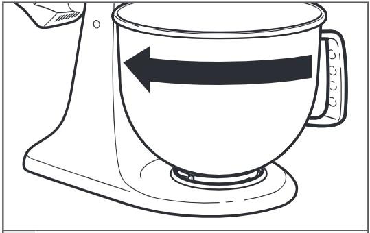 So arretieren Sie eine Schüssel an einer Küchenmaschine mit kippbarem Motorkopf Schritt 3