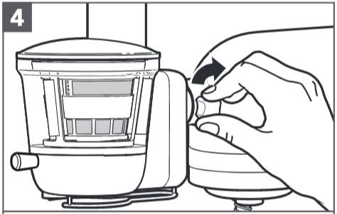 So befestigen Sie den Entsafter an der Küchenmaschine, Schritt4