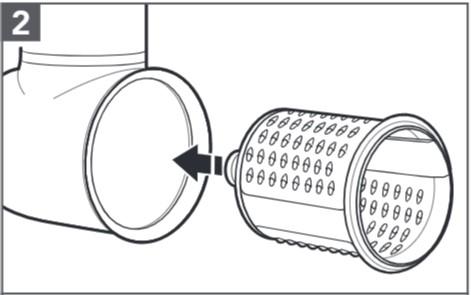 comment assembler le tranchoir/la râpe à légumes étape2