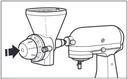 comment fixer le moulin à céréales au robot pâtissier étape3
