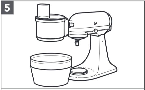 So befestigen Sie den Food-Processor an der Küchenmaschine, Schritt5