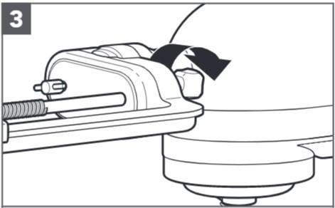 So befestigen Sie den Spiralschneider an der Küchenmaschine, Schritt3