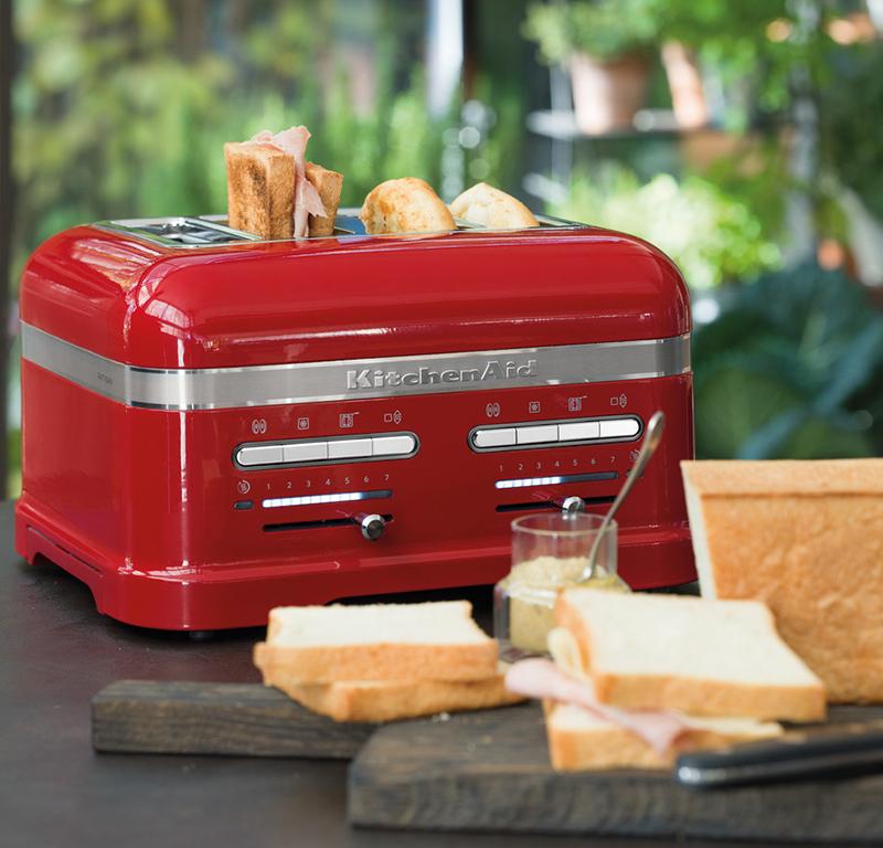 Red toaster 4 slice - Artisan