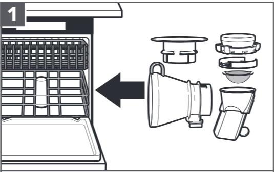 So reinigen Sie das Sieb mit digitaler Waage, Schritt1