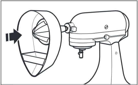 comment fixer le presse-agrumes au robot pâtissier étape3