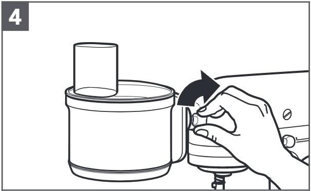 comment fixer le robot ménager multifonction au robot pâtissier étape4