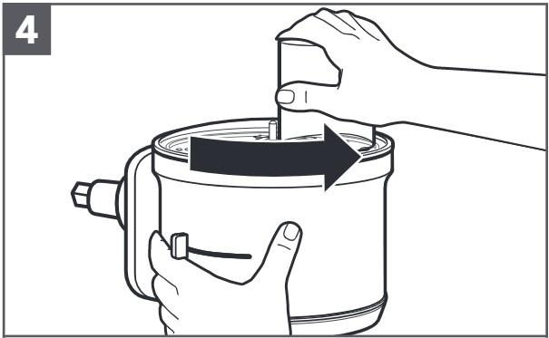 how do you install the reversible shredding disc step 4
