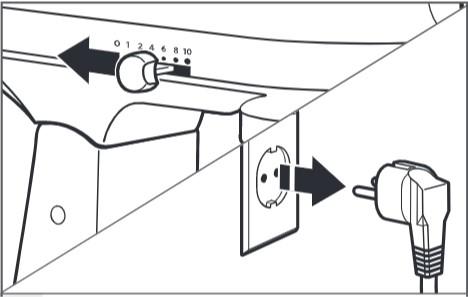 comment corriger l'espace entre le bol et le batteur (bol relevable) étape1