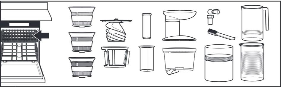 So reinigen Sie den Entsafter für Küchenmaschinen, Schritt5