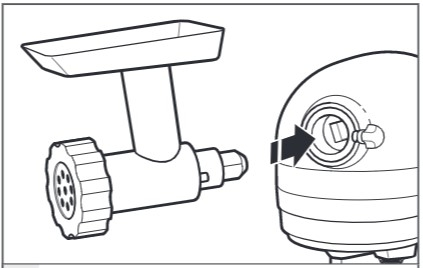 how do you add attachments to the mixer step 3