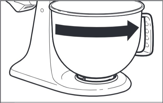 comment fixer le bol au robot pâtissier à tête inclinable étape5