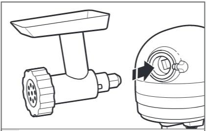 comment ajouter des accessoires au robot pâtissier étape3