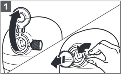 So befestigen Sie den Spiralschneider an der Küchenmaschine, Schritt1