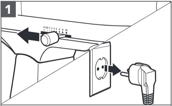 So befestigen Sie den Food-Processor an der Küchenmaschine, Schritt1
