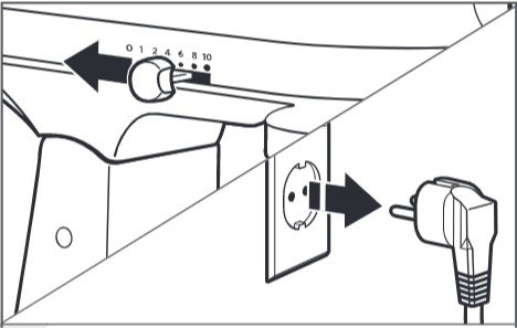 So stellen Sie den Abstand zwischen Flachrührer und Schüssel ein (Schüsselheber) – Schritt1