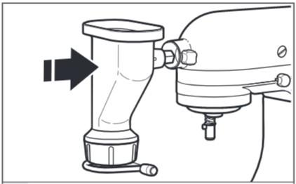 So befestigen Sie den Nudelvorsatz an der Küchenmaschine, Schritt3
