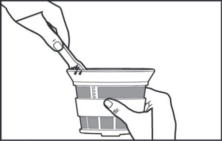 So reinigen Sie den Entsafter für Küchenmaschinen, Schritt4