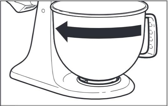 So sichern Sie die Schüssel bei der Montage der Küchenmaschine mit kippbarem Motorkopf – Schritt4