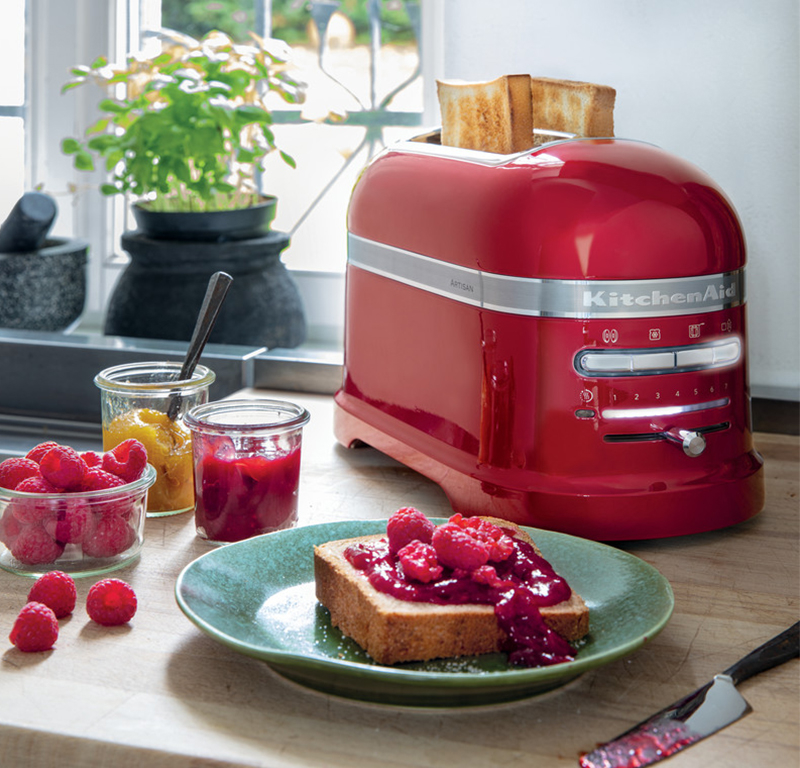 Red toast 2 slice - Artisan with raspberry toasts