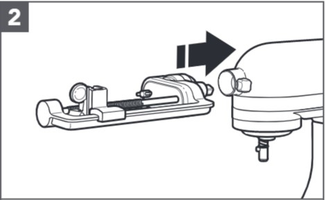 comment fixer le taille-légumes en spirales au robot pâtissier étape2