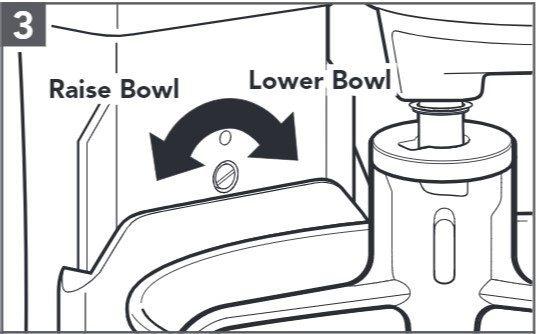 comment corriger l'espace entre le bol et le batteur étape3