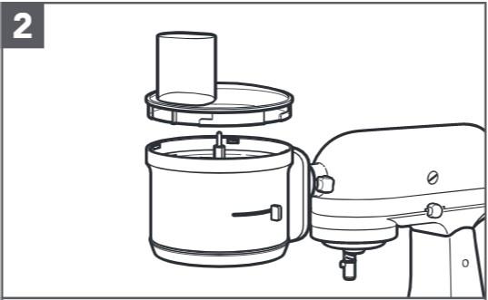 So reinigen Sie den Food-Processor für Küchenmaschinen, Schritt2