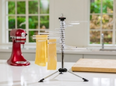 Pasta dryer with lasagna sheets and red mixer