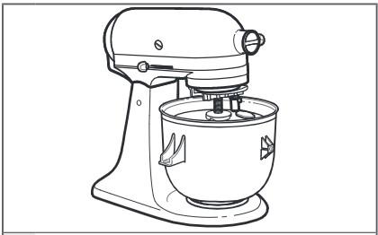 comment fixer le module d'entraînement au robot pâtissier à tête inclinable étape5