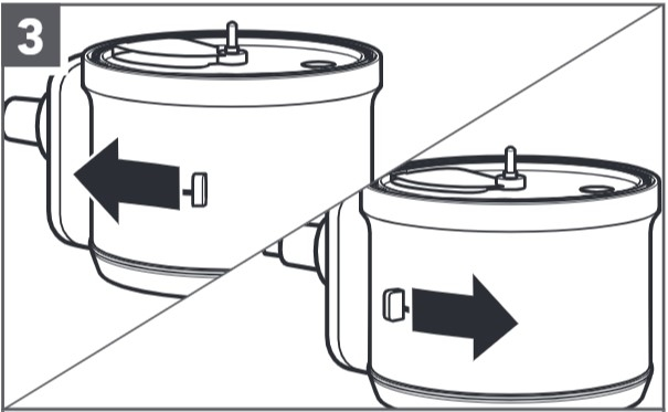 how do you install the adjustable slicing disc step 3