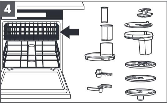 So reinigen Sie den Food-Processor für Küchenmaschinen, Schritt4