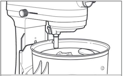 So befestigen Sie den Antriebsadapter an der Küchenmaschine mit Schüsselheber Schritt 2