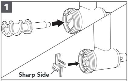 comment assembler le hachoir à viande étapes1 et2