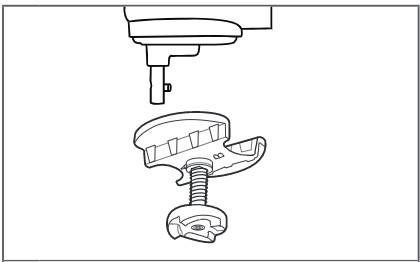 So befestigen Sie den Antriebsadapter an der Küchenmaschine mit kippbarem Motorkopf Schritt 2