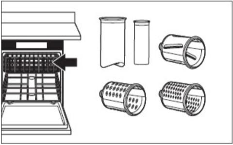 comment nettoyer le tranchoir/la râpe à légumes étape3