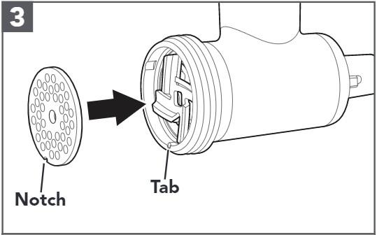 comment assembler le hachoir à viande en plastique étape3
