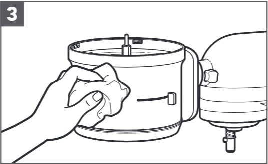 how do you clean the food processor for mixers step 3
