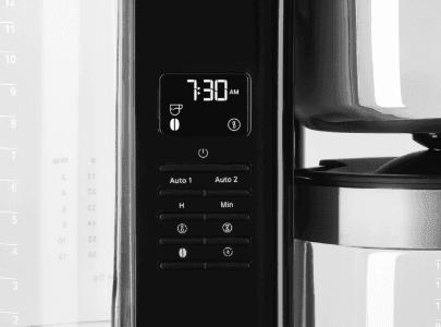 Coffee machine control panel