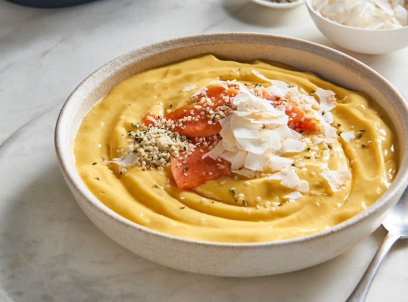 Velvet carrot purée