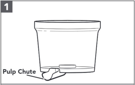 So bauen Sie den Entsafter für Küchenmaschinen zusammen, Schritt1