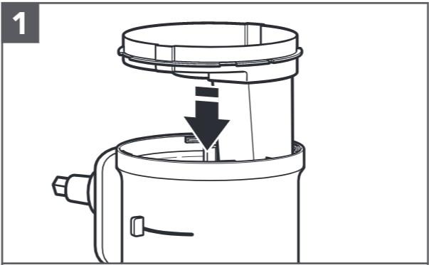 comment installer le disque à râper réversible étape1