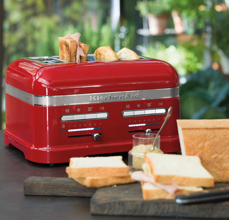 Red toaster 4 slice - Artisan