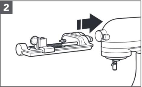So befestigen Sie den Spiralschneider an der Küchenmaschine, Schritt2