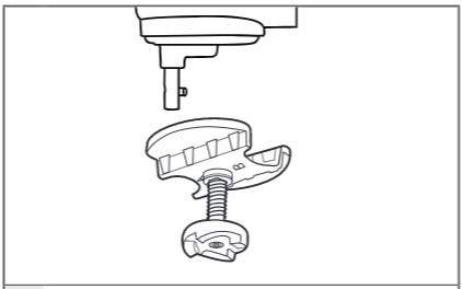 So befestigen Sie den Antriebsadapter am Schüsselheber Schritt 3