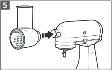 comment assembler le tranchoir/la râpe à légumes étape5