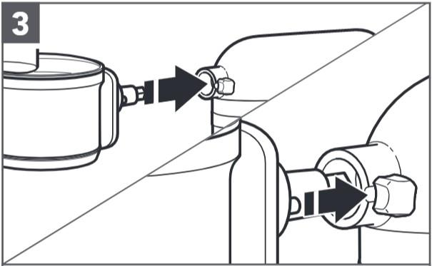 So befestigen Sie den Food-Processor an der Küchenmaschine, Schritt3